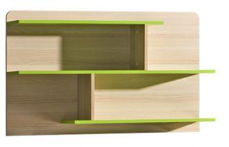Závěsná panelová police LIMO L8 zelená