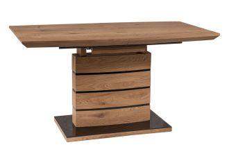 Jídelní stůl rozkládací LEONARDO 140x80 dub/černá
