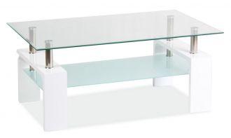 Konferenční stolek LISA BASIC II bílý