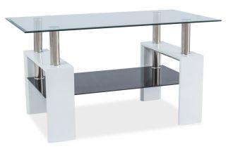Konferenční stolek LISA III bílý lak