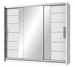 Šatní skříň LIZBONA 2 250 bílá