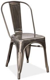Jídelní kovová židle LOFT ocel kartáčovaná