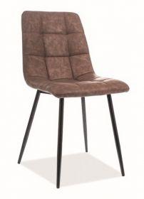 Jídelní čalouněná židle LOOK ekokůže hnědá/černá
