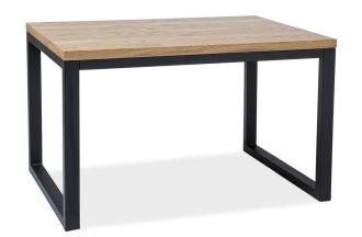 Jídelní stůl LORAS II 150x90 dub masiv/černá