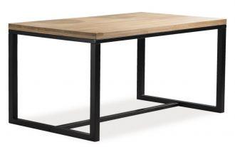 Jídelní stůl LORAS A 150x90 dub masiv/černá