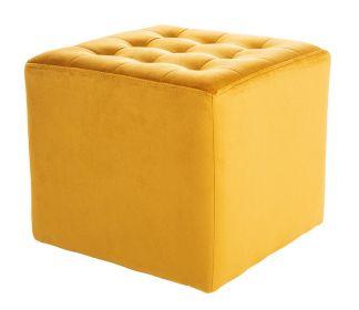 Taburet LORI velvet žlutá curry