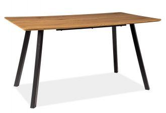 Jídelní stůl MANO 140x80 dub/černá mat