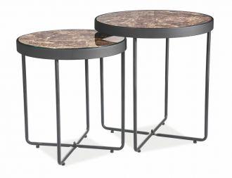 Konferenční stolky MANTA mramor/černá