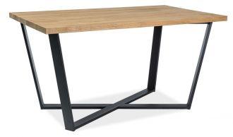 Jídelní stůl MARCELLO 180x90 dub masiv/černá
