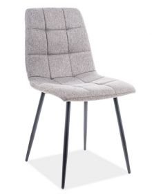 Jídelní čalouněná židle MILA šedá/černá