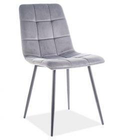 Jídelní čalouněná židle MILA velvet šedá/černá