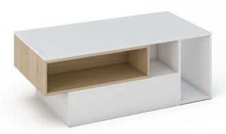 Konferenční stolek MILANO bílá/sonoma