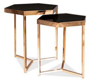 Konferenční stolek MILOS černá/šampaň