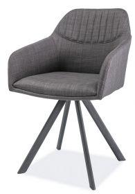Křeslo-židle MILTON II šedá