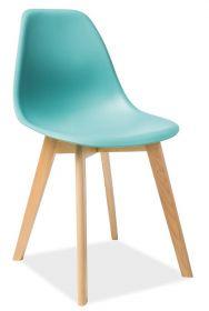 Jídelní židle MORIS mentolová/buk