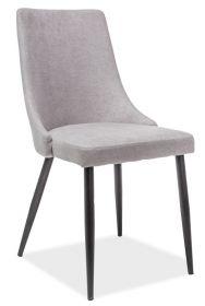 Jídelní čalouněná židle NOBEL šedá/černá