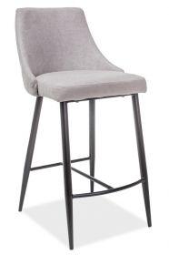 Barová čalouněná židle NOBEL H-1 šedá/černá