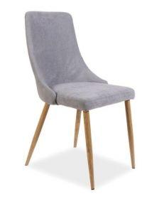 Jídelní čalouněná židle NOBEL šedá