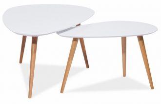 2SET konferenční stolky- komplet NOLAN B bílý