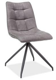 Jídelní čalouněná židle OLAF šedá látka