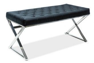 Pokojová lavice ONYX černá/chrom