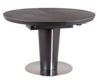 Jídelní stůl rozkládací 120 ORBIT ceramic šedý mramor/antracit mat