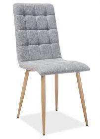 Jídelní čalouněná židle OTTO šedá/dub