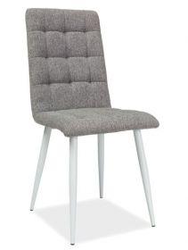 Jídelní čalouněná židle OTTO šedá/bílá