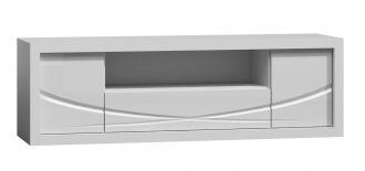 Televizní stolek PARIS P5 bílý lesk/bílá