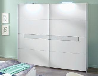 Šatní skříň s posuv. dveřmi PAMELA 864 alpská bílá