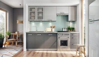 Kuchyně PAULA 260 s W80SU šedá/mocca