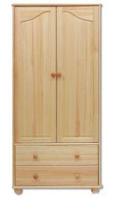 Šatní skříň FS-114/ 2-dvéřová, masiv borovice
