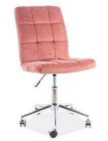 Kancelářská židle Q-020 VELVET starorůžová