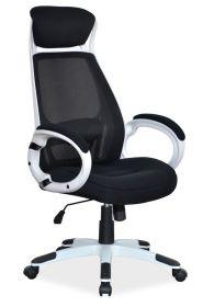 Kancelářské křeslo Q-409 černá/bílá