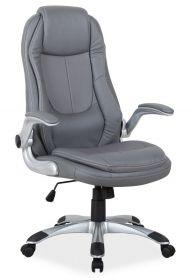 Kancelářské křeslo Q-081 šedá ekokůže