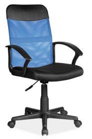 Kancelářská židle Q-702 černá/modrá látka