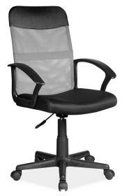 Kancelářská židle Q-702 černá/šedá látka