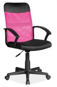 Kancelářská židle Q-702 černá/růžová látka