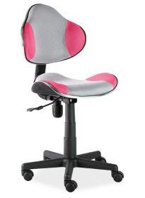 Studentská židle Q-G2 šedá/růžová