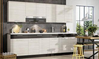 Kuchyně RAVEN 260 s WS80 + W80SU douglaska/šedý lesk
