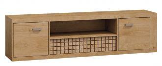 Televizní stolek 2D1S NATURAL N13 dub ribbeck/kostka