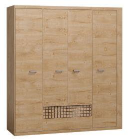 Šatní skříň NATURAL N3 dub ribbeck/kostka
