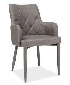 Jídelní čalouněná židle RICARDO šedá