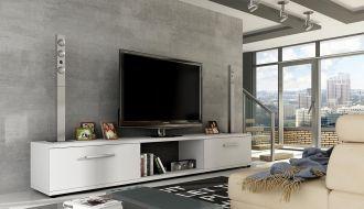 Televizní stolek MALTON bílá mat
