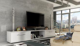 Televizní  stolek MALTON bílý lesk