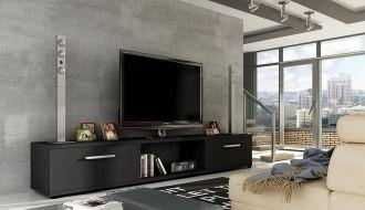 Televizní stolek  MALTON černá mat