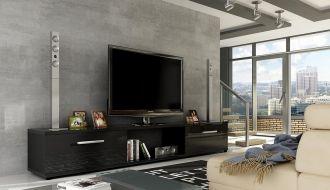 Televizní stolek  MALTON černý lesk