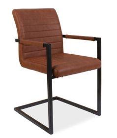 Jídelní čalouněná židle SOLID hnědá