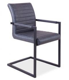 Jídelní čalouněná židle SOLID šedá