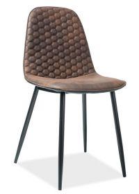 Jídelní čalouněná židle TEO D hnědá